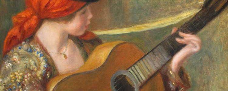 spanish classical guitar painting